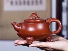 "320cc Chinese Yixing Zisha Purple Sand ""Dragon"" Teapot Signed Wang Zhenxue"