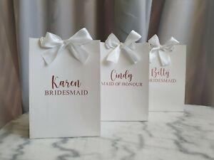 MEDIUM Personalised Bridesmaid Gift Bag | Wedding Gift Bag With Ribbon