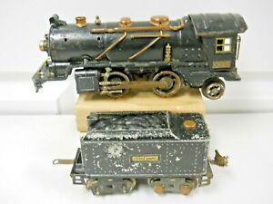Prewar Lionel 262 2-4-2 Steam Locomotive & 262T Tender For Parts or Restoration