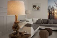 Tischlampe Tischleuchte SAN DIEGO Tau 85cm beige natur Maritim Design Tau-Lampe