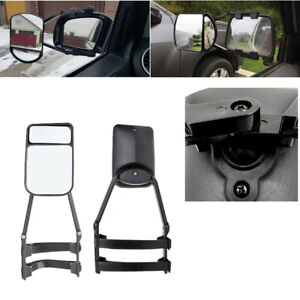 2 Pcs Clip-on Rearview Flat &Convex Mirror Extension For Trailer, Tractor,Truck