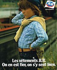 PUBLICITE ADVERTISING 015  1976  JEAN LE BOURGET  vetements enfants