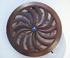 marron cercle grille ventilateur réglable volet et tuyau de canalisation