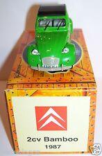 NOREV HACHETTE CITROEN 2CV 6 VERTE 1987 BAMBOO 1/43 IN BOX NEUF