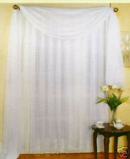 "SHEER VOILE 216"" WINDOW SCARF WHITE"