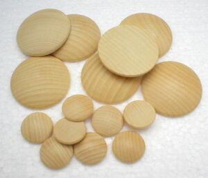 Holzplatinen Button gewölbt Holzbutton Buche ~ Auswahl: Ø 15,20,25,30,40,50 mm