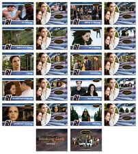 Twilight Breaking Dawn Part 2 SERIES 1 Trading Card Set ~ Rare ~ New