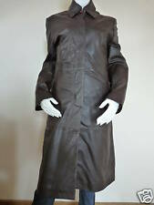 BROWN NAPPA LEATHER TRENCH COAT by EATILIO   UK 14    £389    BNWT