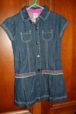 NWT GYMBOREE Merry and Bright Dark Denim Dress 5 5T Drop Waist Blue Jean Spring
