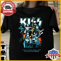 FREESHIP Madison Square Garden Kiss End of The Road Tour T-Shirt Black S-6XL