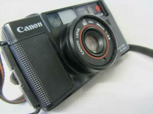 Retro Canon AF35M Point & Shoot Camera, Instructions, Lanyard & Case, Working