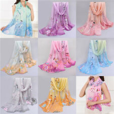 FASHION Women Long Birds Cotton Scarf Wrap Ladies Shawl Girls Large SILK Scarves