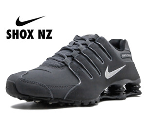 Nike Shox NZ Dark Grey Gray Metallic Iron Mens Shoes 378341 059 sz 10.5 11.5  13