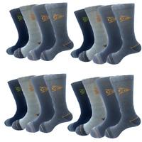 12 Dunlop Mens Heavy Duty Work Trainer Sports Cushioned Winter Socks Cotton Rich
