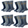 12 Dunlop Mens Heavy Duty Work Trainer Sports Cushioned Winter Socks Cotton Rich