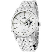 Oris Artelier GMT Automat. White Dial Stainless Steel Mens Watch 690-7690-4081MB