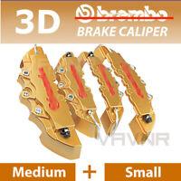 4pcs Yellow Disc Racing Running Brake Caliper Covers For BMW # 16-18 inch wheels