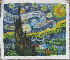 """Handmade oil on canvas reproduction of Starry night by Van Gogh 20x24"""""""