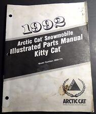 1992 Arctic Cat Kitty Cat Snowmobile Parts Manual P/N 2254-751 (129)
