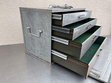 VTG 4 Drawer Metal TOOL Storage MACHINIST Bin/Cabinet/Chest/Parts Box Industrial