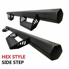 08-19 Fit Toyota Tacoma Double Cab Hex Side Steps Running Boards Nerf Bars