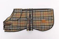 "authentic BURBERRY nova check DOG COAT wool 20"" 50 CM original buckle strap"