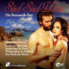 XXL Hörbuchpaket ROMANTIK-BOX | 4 Hörbücher | Abenteuer Historie Liebe | mp3-DVD