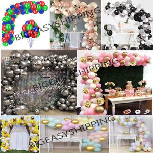 100 pcs Balloons + Balloons Arch Kit Set Chrome Macaron Baloons Wedding Garland