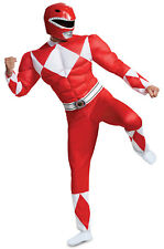Brand New Mighty Morphin Power Rangers Red Ranger Classic Muscle Adult Costume