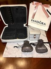 Pandora LE Silver Leather Jewelry Box with LE Ring Box And Two Pandora Pouches!