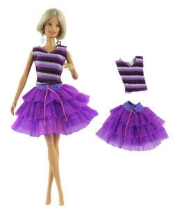 Fashion Lovely Party Dress Purple Ballet Dress Mini Skirt For 11 inch Doll #16