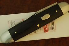 RARE 1/30 SCHATT & MORGAN BY QUEEN USA BLACK MICARTA MUSKRAT MOOSE KNIFE (3000.1