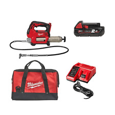 Milwaukee M18GG-201B 18 V Cordless Grease Gun 1 x 2Ah Chargeur de Batterie & Sac