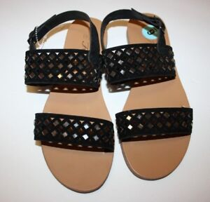 Forever Women Ankle Strap Sandals Geometric Gladiator Black Size 6 New