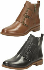 Clarks Zip Patternless Boots for Women