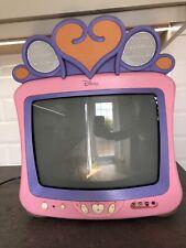 """Disney Princess TV - 14"""" CRT TV Pink Retro Gaming Rare 14DN1WYD"""