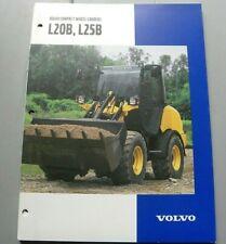 Factory Volvo Compact Wheel Loader L20b L25b Dealership 905 Brochure