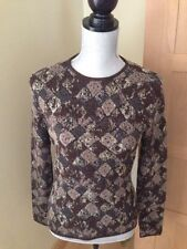 Missoni Sweater - Crew neck Size 42 - Medium - Geometric Pattern - Multi - Brown