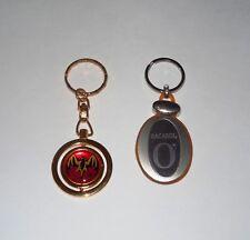 "Bacardi ""O"" & Bacardi Rum Spinning Red Bat Symbol Fancy Metal Key Chains (Two)"