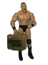 WWE wrestling figure ELITE BROCK LESNAR RARE WITH MONEY IN THE BANK CASE EI