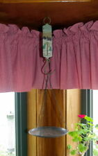VINTAGE HAND PAINTED HANGING SCALE WITH PAN CHAIN
