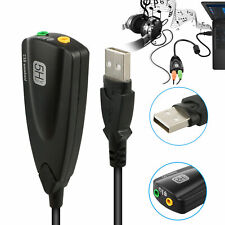 New listing Usb 2.0 External 7.1 Channel 3D Virtual Audio Sound Card Mic Adapter Laptop Pc