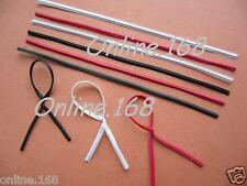 "Plastic Coated Wire Ties Twist Ties 5""_125mm Red/blk/W"