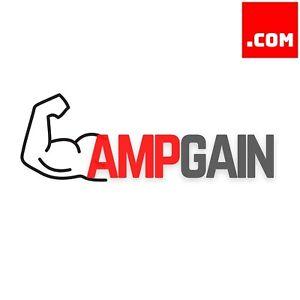 AmpGain.com - Short Catchy Brandable Premium Domain Name for Sale .com Muscles