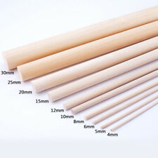 10Pcs Round Wood Sticks Paulownia Rod Strip Model DIY Craft Making Kids 4mm-30mm