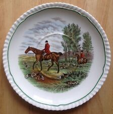 "1956 COPELAND SPODE PLATE, 7"" DIAMETER, THE LAST DRAW FOX HUNT SCENE"