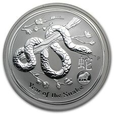 2013 Australia 1 oz Silver Lunar Snake with Lion Privy (from mint roll)