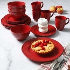 Valentines Day Set Dinnerware 16 Pc Dishes Plate Mug Vintage Classic Modern Red