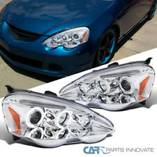 For Acura 02-04 RSX DC5 Clear LED Halo Projector Headlights Driving Lights Lamps