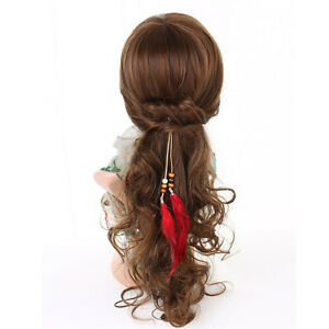 Women Feather Clip In On Hair Extension Synthetic for Women Strip Highlight